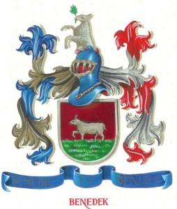 Het logo van de familie Benedek